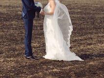 Newlyweds on Ground Royalty Free Stock Photo