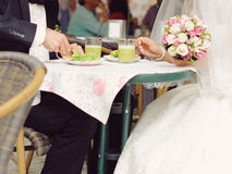 Newlyweds Having Breakfast Royalty Free Stock Images