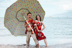 Newlyweds in Hawaii Royalty Free Stock Photography