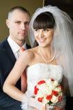 Newlyweds indoors Stock Image