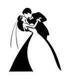 Newlyweds, kissing couple Stock Image