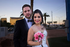 Newlyweds in Las Vegas Stock Images
