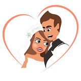 Newlyweds nell'amore royalty illustrazione gratis