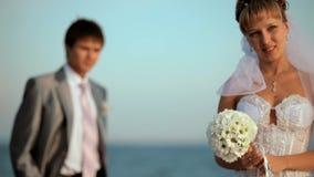 Newlyweds At Sea stock footage