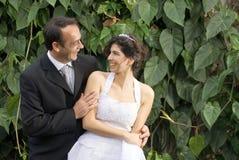 Newlyweds Stare - horizontal Stock Images