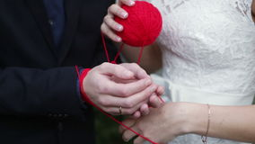 Newlyweds tangle stock video