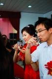 Newlyweds toast Royalty Free Stock Images
