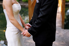 Newlyweds together Royalty Free Stock Images