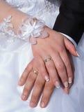 newlyweds Verplichting, geluk en liefde stock foto