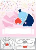 Newlyweds (vettore, CMYK) Royalty Illustrazione gratis