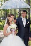 Newlyweds walk Royalty Free Stock Photo