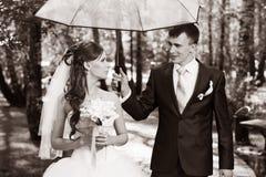 Newlyweds walk Royalty Free Stock Photos