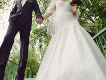 Newlyweds Walk Stock Photo