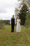 Newlyweds walking Stock Image