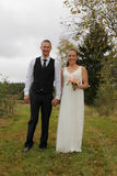 Newlyweds walking Royalty Free Stock Photography