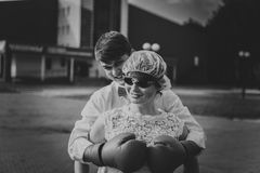 Newlyweds on Wedding Day. Royalty Free Stock Image