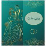Newlyweds. Wedding invitation. Royalty Free Stock Photo