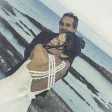 Newmarried em Plemmirio, Siracusa em Sicília fotografia de stock royalty free
