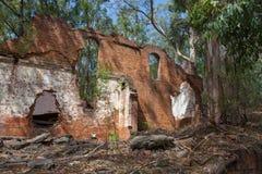 Newnes在Lithgow附近的页岩油废墟 图库摄影