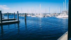 Neworp hamn i Rhode - ö royaltyfri bild
