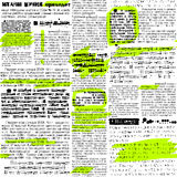 Newpaper with markers Stock Photography