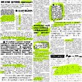 Newpaper met tellers stock illustratie