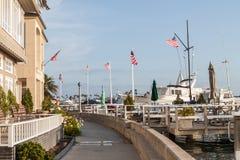 Newport Beach - ίχνος περπατήματος νησιών BALBOA Στοκ εικόνα με δικαίωμα ελεύθερης χρήσης