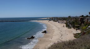 Newport Beach και λιμάνι Στοκ φωτογραφία με δικαίωμα ελεύθερης χρήσης