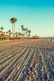 Newport Beach στο ηλιοβασίλεμα Στοκ εικόνες με δικαίωμα ελεύθερης χρήσης