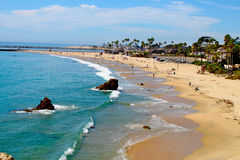 Newport Beach. A view of Corona del Mar State Beach in Califonia Stock Images