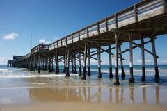 Newport beach pier Stock Image