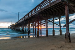 Newport Beach Pier Royalty Free Stock Images