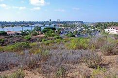 Newport Beach plecy zatoka, Kalifornia Zdjęcia Royalty Free