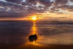 Newport Beach przy wschodem słońca Zdjęcie Stock