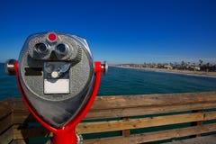 Newport Beach w Kalifornia widoku od molo teleskopu Zdjęcie Royalty Free