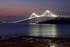 Newport Bridge Sunrise Royalty Free Stock Photography