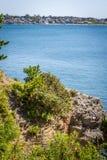 Newport Cliff Walk Coastline Fotografering för Bildbyråer