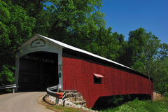 Newport Covered Bridge in Indiana Royalty Free Stock Images