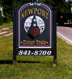 Newport Dinner Train. Royalty Free Stock Photography
