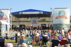 Newport Folk Festival stage area Royalty Free Stock Images