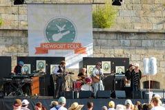 Newport Folk Festival stage area. Newport, Rhode Island Stock Image