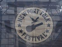Newport Folkfestival Fotografering för Bildbyråer