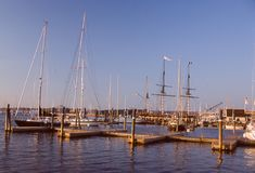 Newport hamn, Newport, RI Arkivfoto