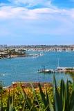 Newport Harbor, California. A view of Newport Harbor, California from Corona del Mar Stock Photo