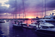 Newport harbor Royalty Free Stock Image