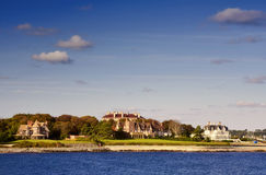 Newport Mansions royalty free stock photo