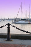 Newport Marina. Twilight in Newport, Rhode Island Royalty Free Stock Photography