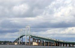 Newport most od fortu Adams stanu parka zdjęcia royalty free