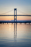 Newport mosta wschód słońca Obraz Stock