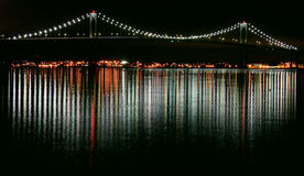 Newport Nights. Newport Bridge at night, Rhode Island Stock Photography